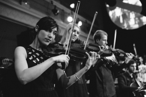 Tinderbox violinists at the Queen's Hall