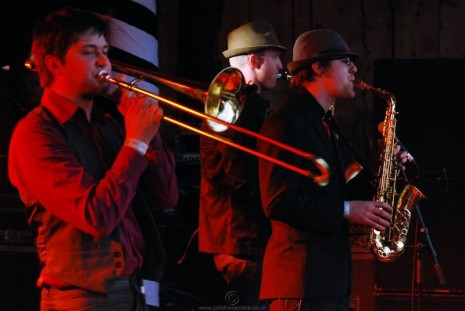 Trombonist Matt plays sessions with the Katet